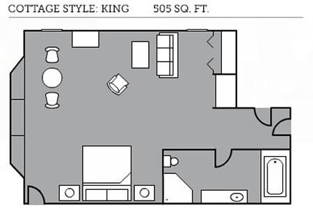Cottage style king floor plan