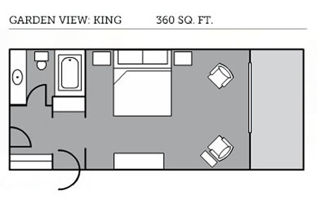 Garden view king floor plan