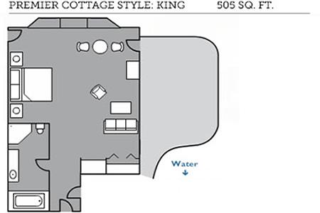 Premier cottage style king floor plan