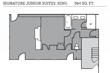 Signature Collection Junior king floor plan