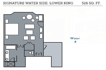 Signature Water Side lower king floor plan