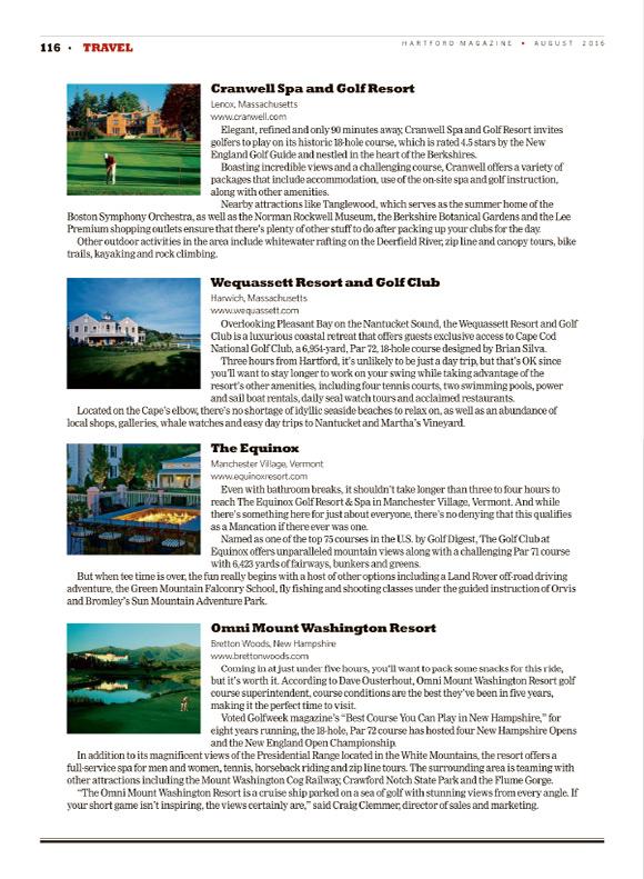 Hartford Magazine August 2016 article