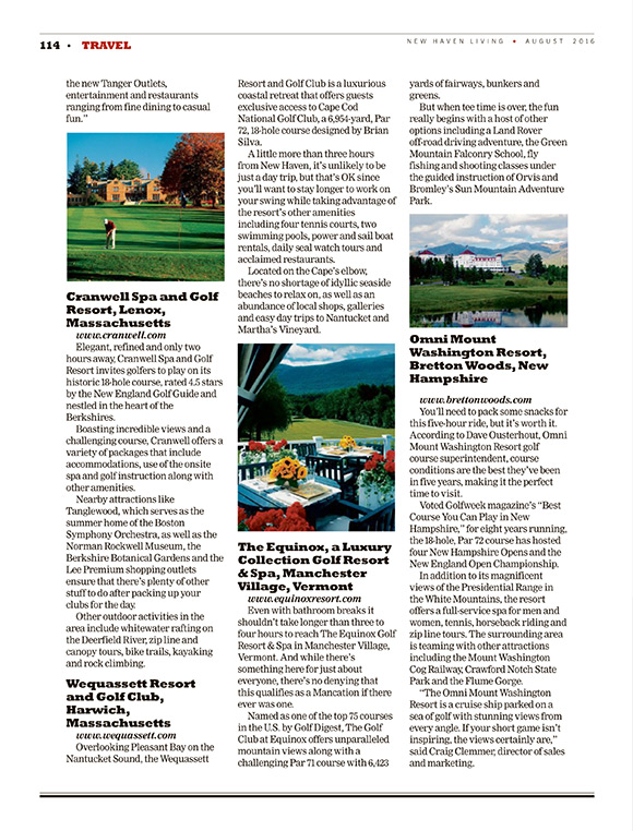 New Haven Living August 2016 article