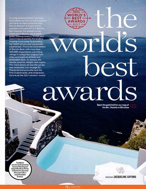 Travel + Leisure August 2017 article