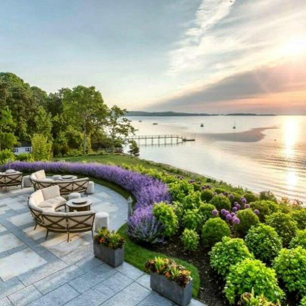 Wequassett resort balcony view at sunrise